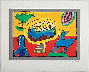 Beverloo Corneille, silkscreen in colours, 2000, signed E/A.