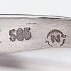 A 14k white gold ring wtih a diamond ca. 0.28 ct.