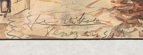 Armas mikola, akvarell, signerad och daterad -54.