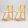 Aldo jacober, five 1970's 'trieste' folding chairs for  bazzani, italy.