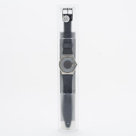 Swatch, blue tune, wristwatch, 34 mm.