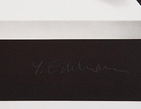 Yrjö edelmann, litograph in colours, signed ea vii/xxxvi.