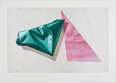 Yrjö edelmann, lithograph in colours, 1991, signed 139/150.