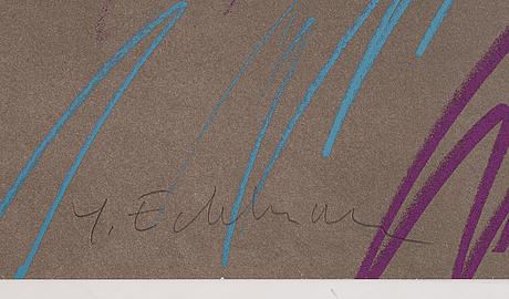 Yrjö edelmann, färglitografi, 1986, signerad ea vii/xx.