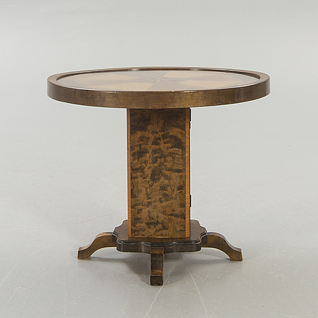 Pillar table / smoking table, birch, 1950s.