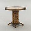 Pillar table / smoking table, birch, 1950s.