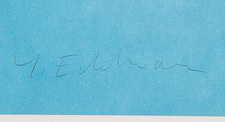 Yrjö edelmann, litograph in colours, 1992, signed ea x/xx.