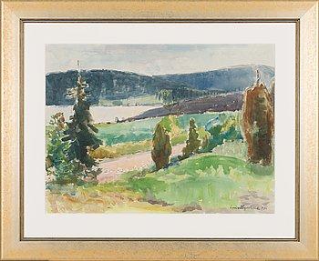 Lennart Segerstråle, akvarelli, signeerattu ja päivätty -56.