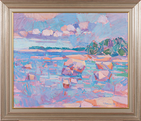Per stenius, oil on board, signed and dated -88.