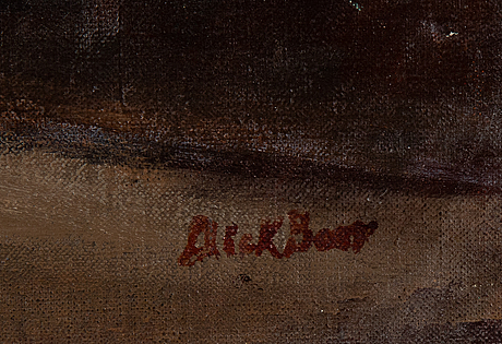Dick beer, oil on canvas, signed.