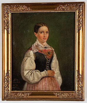 Bengt Nordenberg, oil on canvas, signed and dated Roneby 1850.
