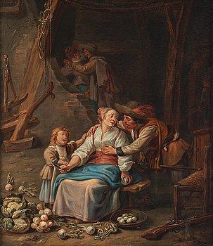 Jean-Baptiste Greuze, circle of, oil on panel.