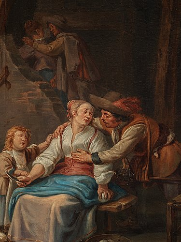 Jean-baptiste greuze circle of, in the kitchen.