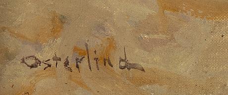 Allan österlind, olja på duk, signerad.