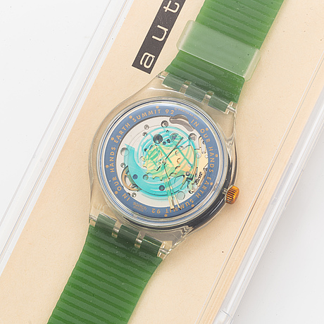 Swatch, automatic, time to move, wristwatch, 36 mm.