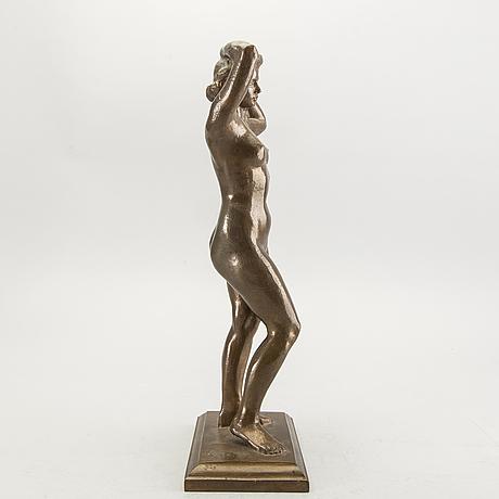 Nils möllerberg, skulptur brons, signerad no 8.