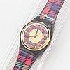 Swatch, tweed, wristwatch, 34 mm.