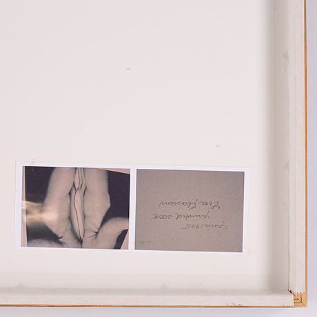 Eva klasson, photograph signed on verso.