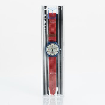 Swatch, Chrono JFK, wristwatch, chronograph, 36 mm.