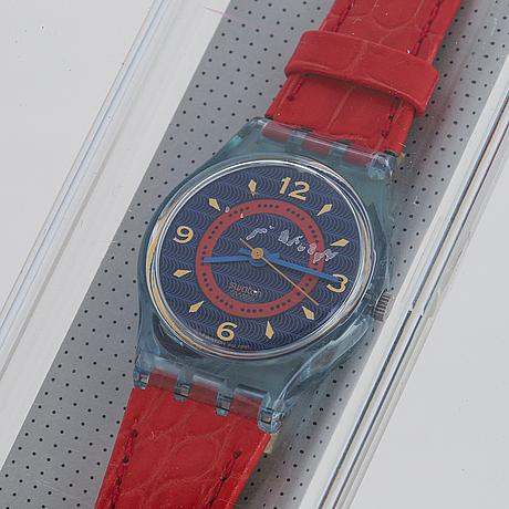Swatch, gin rosa, wristwatch, 25 mm.