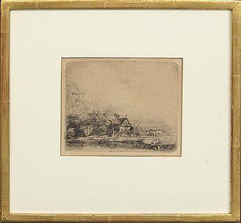 Rembrandt Harmensz van Rijn,  etching, later impression.