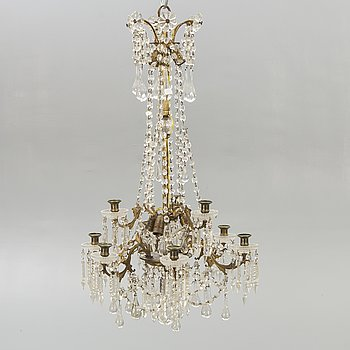A chandelier around 1900.