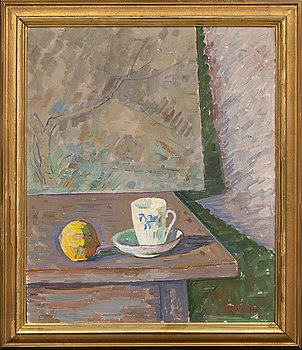 Axel Nilsson, a signed oil on board.