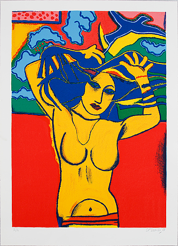 Beverloo corneille, silkscreen in coloures, 1988, signed e/a.
