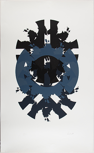 Raul meel, silkscreen in colours, 1989, signed 3/50.