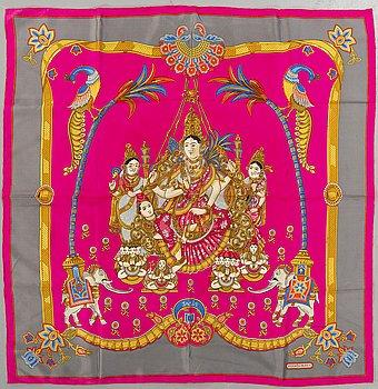 "Hermès, scarf, ""India""."