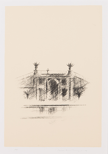 Pentti lumikangas, lithograph, signed and dated -89, marked ap.