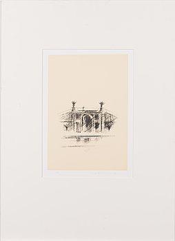Pentti Lumikangas, litografi, signerad och daterad -89, märkt AP.