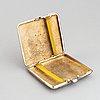 Cigarettetui, silver, åbo 1924.