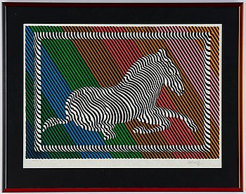 Victor Vasarely, lithograph in colours, signed XXXVII/L.