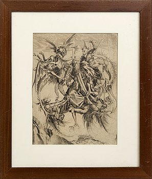 Martin Schongauer after, copper engraving, 18th / 19th century.