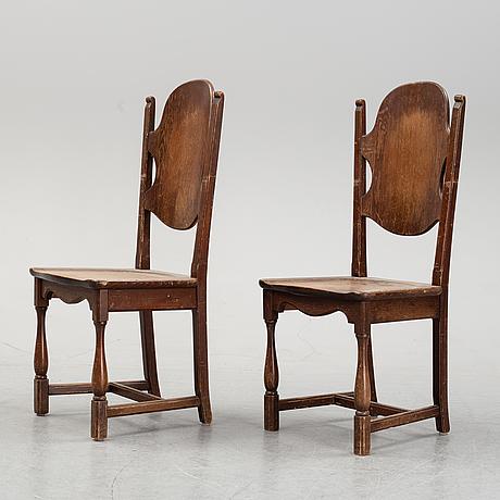 Stolar, ett par, ab åby möbelfabrik, 1900-talets första hälft.