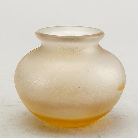 Karl lindeberg, a signed kosta vase.