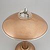 An aluminium table light, 20th century.