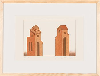 Päivi Lempinen, lithograph, signed and dated -92, numbered 9/70.