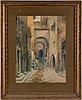 Frans wilhelm odelmark, akvarell med täckvitt, signerad.