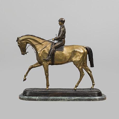 Pierre jules mène, efter, skulptur, brons, stämpelsignerad.