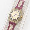Swatch, red knot, wristwatch, 25 mm.
