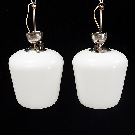 A pair of 1930's-40's ceiling lights.