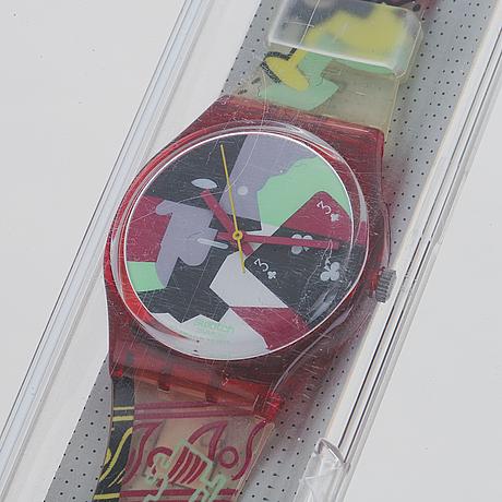 Swatch, cubistic rap, wristwatch, 34 mm.