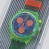 Swatch, chrono, neo wave, wristwatch, chronograph, 36 mm.