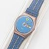 Swatch, tango azul, wristwatch, 34 mm.
