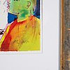 Peter dahl, lithograph in colors, signed.