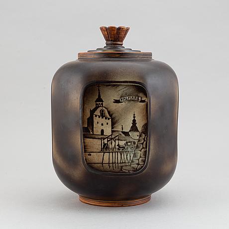 """Gunnar nylund, """"flambé"""" vase."""