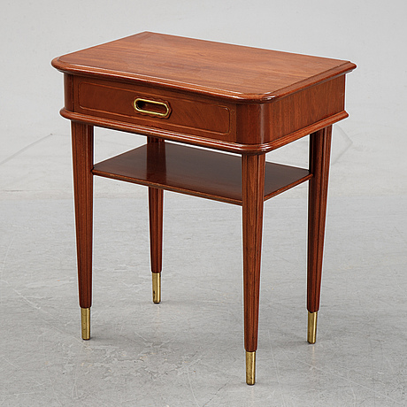 A mahogany veneered swedish modern bedside table, 1940's.