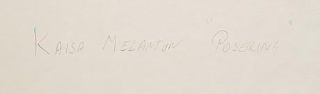 Kaisa melanton, watercolours, 3, framed together. signed -88.